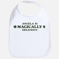 Angela is delicious Bib