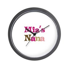 Mia's Nana Wall Clock
