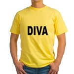 Diva (Front) Yellow T-Shirt