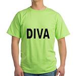 Diva (Front) Green T-Shirt