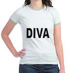 Diva (Front) Jr. Ringer T-Shirt