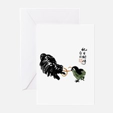 Japanese style Silk Print Pul Greeting Cards (Pk o
