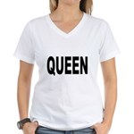 Queen (Front) Women's V-Neck T-Shirt
