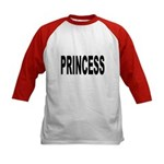 Princess (Front) Kids Baseball Jersey