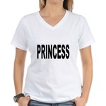 Princess (Front) Women's V-Neck T-Shirt