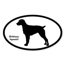 Brittany Spaniel Silhouette Decal