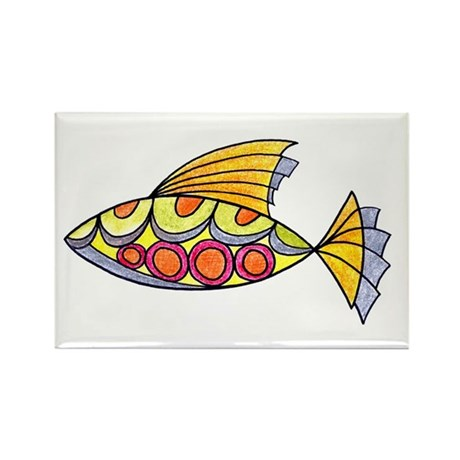 Colorful Fish Rectangle Magnet (100 pack)