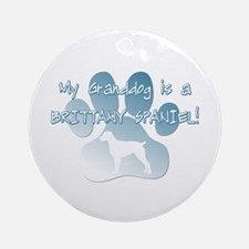 Brittany Spaniel Granddog Ornament (Round)
