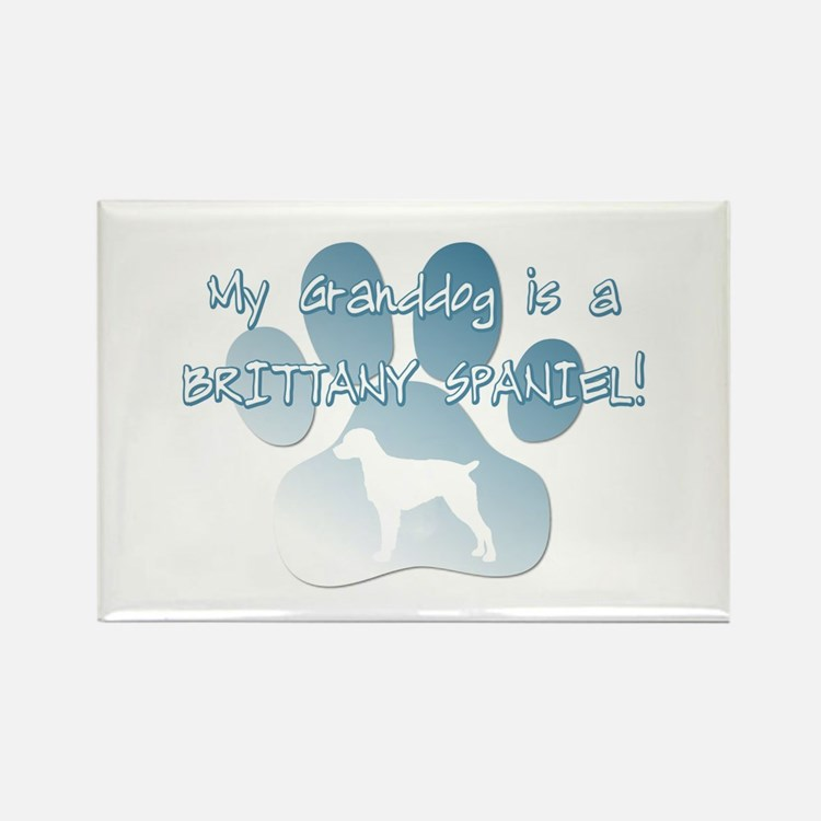 Brittany Spaniel Granddog Rectangle Magnet