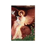 Seated Angel / Ital Greyhound Rectangle Magnet