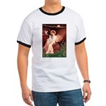 Seated Angel / Ital Greyhound Ringer T