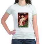 Seated Angel / Ital Greyhound Jr. Ringer T-Shirt