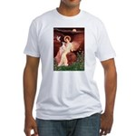 Seated Angel / Ital Greyhound Fitted T-Shirt