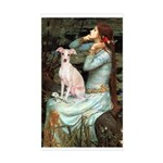 Ophelia / Italian Greyhound Sticker (Rectangle)