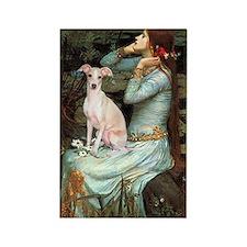 Ophelia / Italian Greyhound Rectangle Magnet