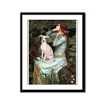 Ophelia / Italian Greyhound Framed Panel Print