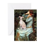 Ophelia / Italian Greyhound Greeting Cards (Pk of