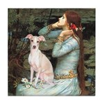 Ophelia / Italian Greyhound Tile Coaster