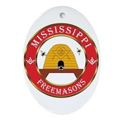 Mississippi Freemason Oval Ornament