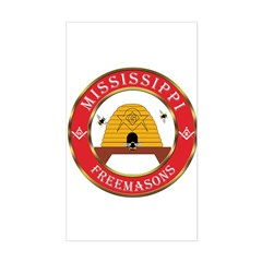 Mississippi Freemason Rectangle Decal