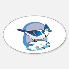 BlueJay Oval Decal