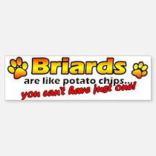 Potato Chips Briard Bumper Bumper Bumper Sticker