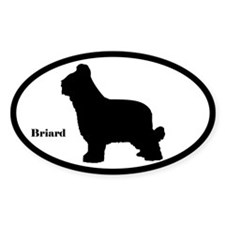 Briard Silhouette Decal