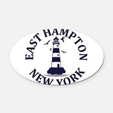 Summer East Hampton- New York Oval Car Magnet