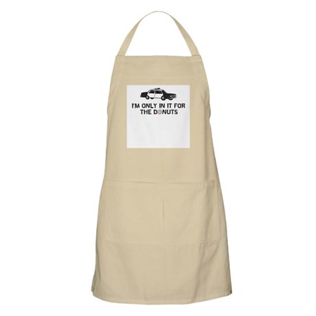 I'm only in it for the donuts BBQ Apron