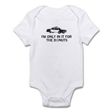 I'm only in it for the donuts Infant Bodysuit