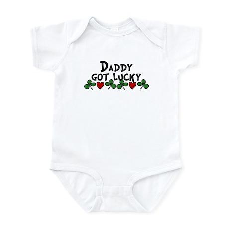 Daddy Got Lucky! Infant Bodysuit