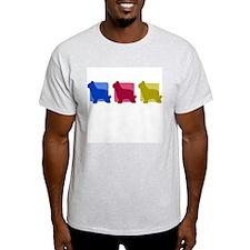 Color Row Briard T-Shirt