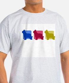 Color Row Briard T-Shirt