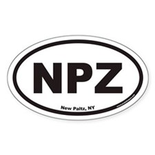 New Paltz NPZ Euro Oval Decal
