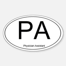 Physician Assistant Oval Decal