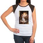 Queen / Italian Greyhound Women's Cap Sleeve T-Shi