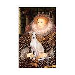 Queen / Italian Greyhound Sticker (Rectangle)