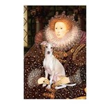 Queen / Italian Greyhound Postcards (Package of 8)