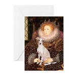 Queen / Italian Greyhound Greeting Cards (Pk of 10