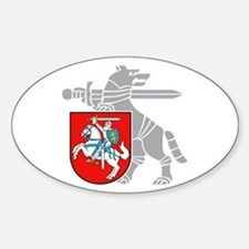 LT Defense Ministry Vytis Oval Bumper Stickers