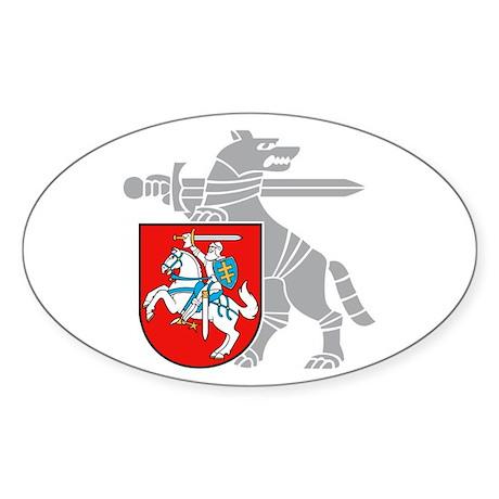 LT Defense Ministry Vytis Oval Sticker