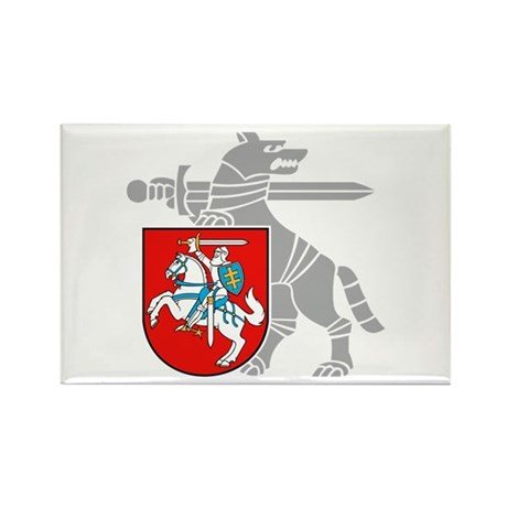 LT Defense Ministry Vytis Rectangle Magnet