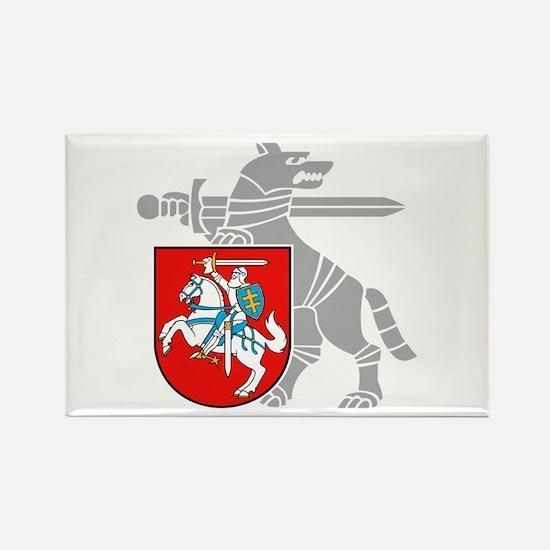 LT Defense Ministry Vytis Rectangle Magnet