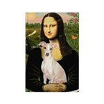 Mona Lisa / Ital Greyhound Rectangle Magnet