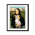 Mona Lisa / Ital Greyhound Framed Panel Print