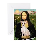 Mona Lisa / Ital Greyhound Greeting Cards (Pk of 1