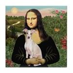 Mona Lisa / Ital Greyhound Tile Coaster