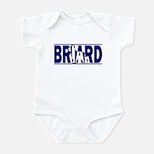 Hidden Briard Baby Bodysuit