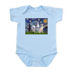 Starry Night / Ital Greyhound Infant Bodysuit