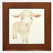 Baby Lamb Framed Tile